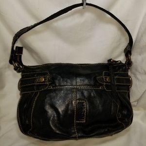 B8,771 Fossil Shoulder Bag Leather Black